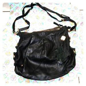 Vince Camuto black leather hobo bag purse